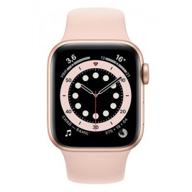 Купить Apple Watch Series 6 44mm Gold Aluminum Case with Pink Sport Band онлайн