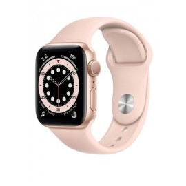 Купить Apple Watch Series 6 40mm Gold Aluminum Case with Pink Sport Band онлайн