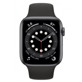 Купить Apple Watch Series 6 44mm Space Gray Aluminum Case with Black Sport Band онлайн