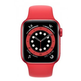 Купить Apple Watch Series 6 44mm Red Aluminum Case with Red Sport Band онлайн