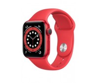Купить Apple Watch Series 6 40mm Red Aluminum Case with Red Sport Band онлайн