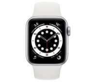 Купить Apple Watch Series 6 44mm Silver Aluminum Case with White Sport Band онлайн