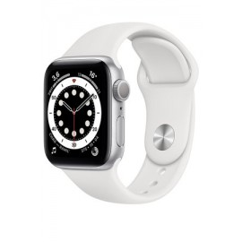 Купить Apple Watch Series 6 40mm Silver Aluminum Case with White Sport Band онлайн
