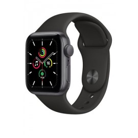 Купить Apple Watch SE 40mm Space Gray Aluminum Case with Black Sport Band онлайн