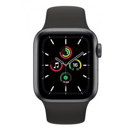 Купить Apple Watch SE 44mm Space Gray Aluminum Case with Black Sport Band онлайн