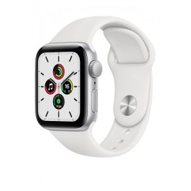 Купить Apple Watch SE 40mm Silver Aluminum Case with White Sport Band онлайн