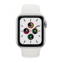 Купить Apple Watch SE 44mm Silver Aluminum Case with White Sport Band онлайн