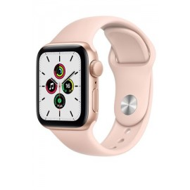Купить Apple Watch SE 40mm Gold Aluminum Case with Pink Sport Band онлайн