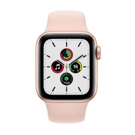 Купить Apple Watch SE 44mm Gold Aluminum Case with Pink Sport Band онлайн