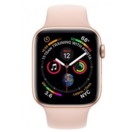 Купить Apple Watch Series 4 44mm Gold Aluminum Case with Pink Sand Sport Band онлайн