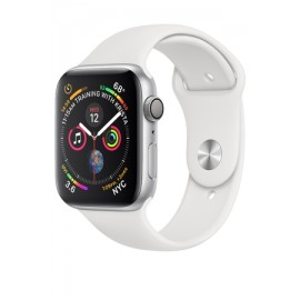 Купить Apple Watch Series 4 40mm Silver Aluminum Case with White Sport Band онлайн