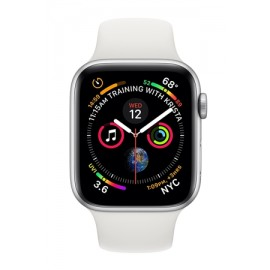 Купить Apple Watch Series 4 44mm Silver Aluminum Case with White Sport Band онлайн