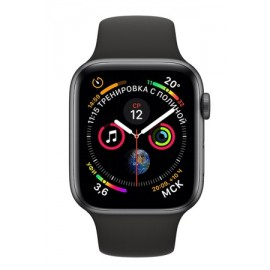 Купить Apple Watch Series 4 44mm Space Gray Aluminum Case with Black Sport Band онлайн