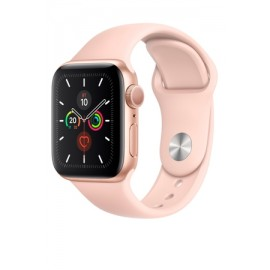 Купить Apple Watch Series 5 40mm Gold Aluminum Case with Pink Sand Sport Band онлайн