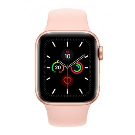 Купить Apple Watch Series 5 44mm Gold Aluminum Case with Pink Sand Sport Band онлайн