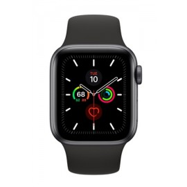 Купить Apple Watch Series 5 44mm Space Gray Aluminum Case with Black Sport Band онлайн
