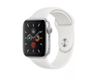 Купить Apple Watch Series 5 40mm Silver Aluminum Case with White Sport Band онлайн